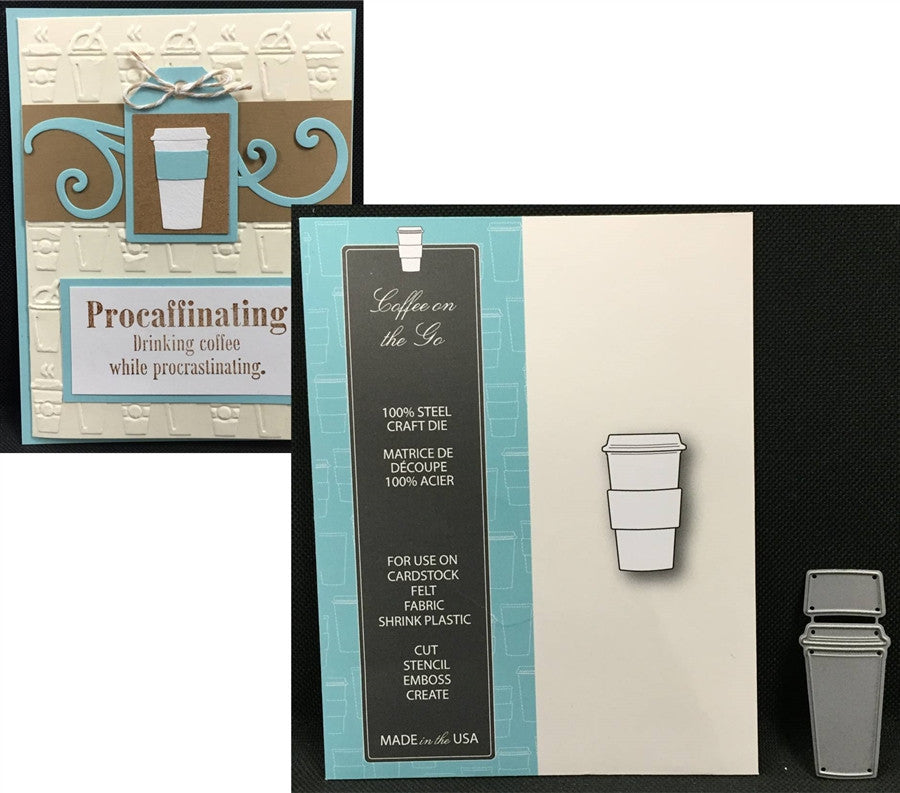 COFFEE ON THE GO die by MEMORY BOX 99110 - Inspiration Station Scrapbook Store & Retreat