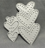 CROSS STITCHED HEARTS die by MEMORY BOX 99125 - Inspiration Station Scrapbook Store & Retreat