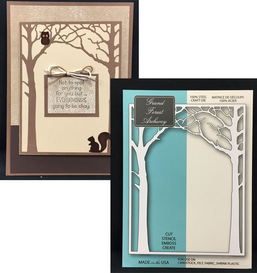 GRAND FOREST ARCHWAY Steel Die-cut by MEMORY BOX 99153 - Inspiration Station Scrapbook Store & Retreat