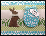 Chocolate Bunny 995 Thin Metal Die Cut by Poppy Stamps - Inspiration Station Scrapbook Store & Retreat