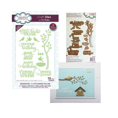 A Little Birdie Told Me Die Cut Set by Sue Wilson for Creative Expressions Craft Dies CED23024 - Inspiration Station Scrapbook Store & Retreat