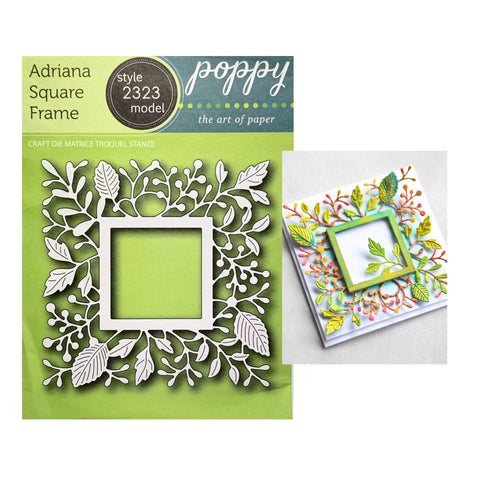 Adriana Square Frame Metal Die Cut by Poppystamps Cutting Dies 2323 - Inspiration Station Scrapbook Store & Retreat