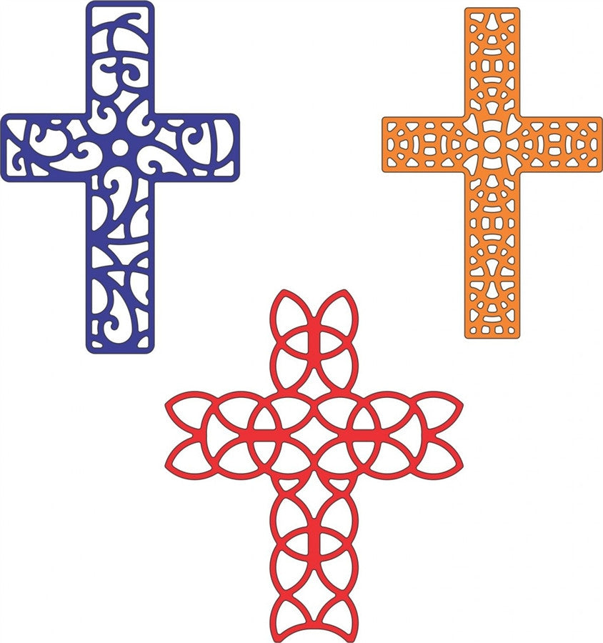 Crosses 3 pc Die Cut Set by Cheery Lynn Designs Dies B207 - Inspiration Station Scrapbook Store & Retreat