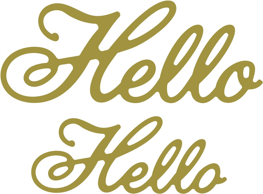 HELLO (Set of 2) Die Cut Word Phrase by Cheery Lynn Design Dies B346 - Inspiration Station Scrapbook Store & Retreat