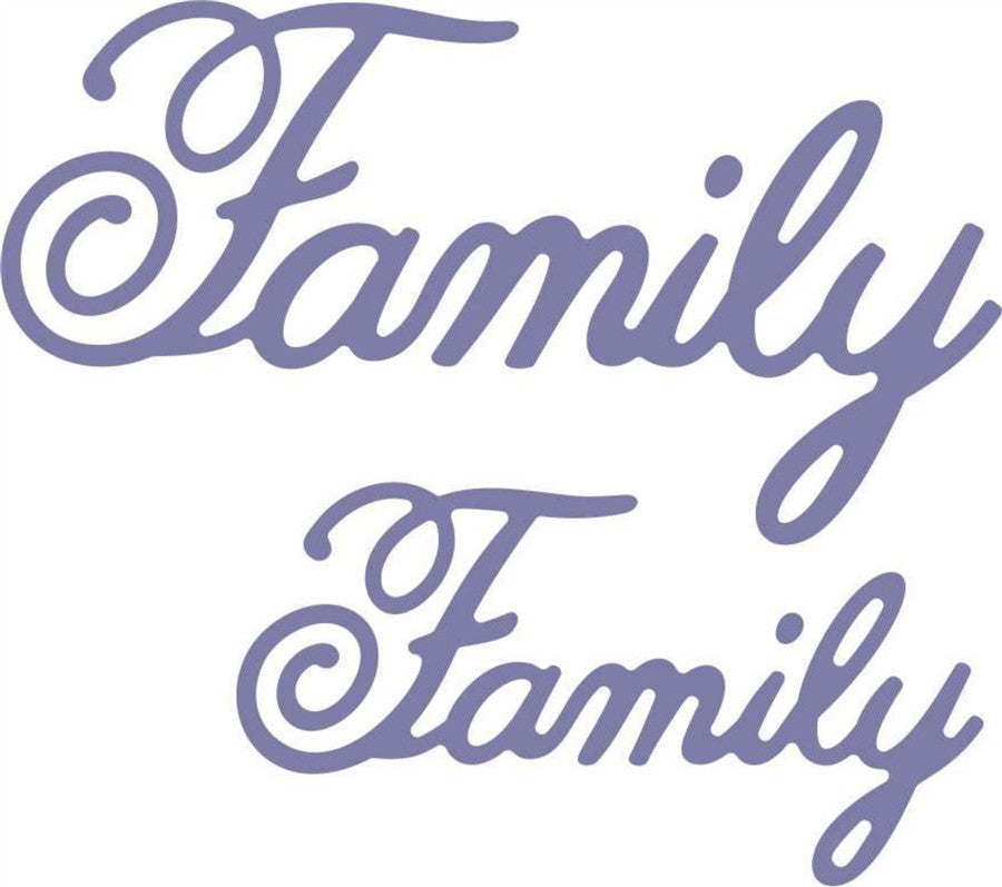 FAMILY  Die Cut Word Phrase by Cheery Lynn Design - Inspiration Station Scrapbook Store & Retreat