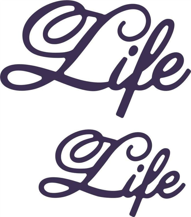 Life (Set of 2) Die Cut Word Phrase by Cheery Lynn Design Dies B414 - Inspiration Station Scrapbook Store & Retreat