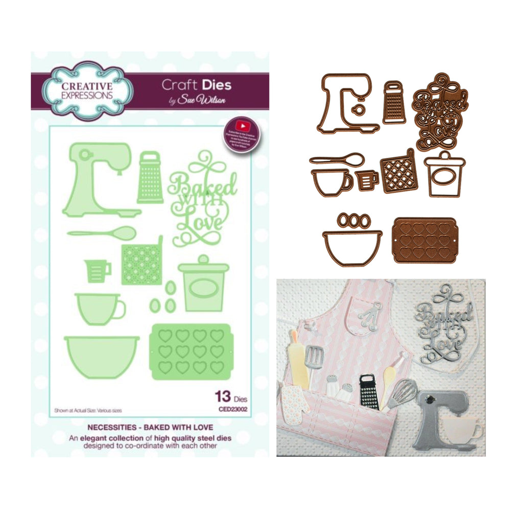 Baked With Love Die Cut Set by Sue Wilson for Creative Expressions Craft Dies CED23002 - Inspiration Station Scrapbook Store & Retreat