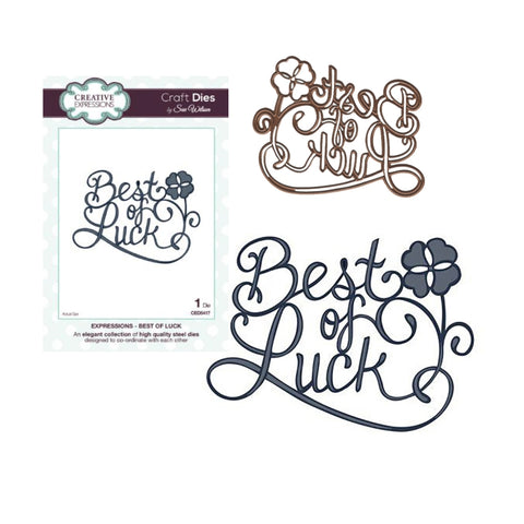 Best of Luck Thin Metal Die by Sue Wilson for Creative Expressions Dies CED5417 - Inspiration Station Scrapbook Store & Retreat