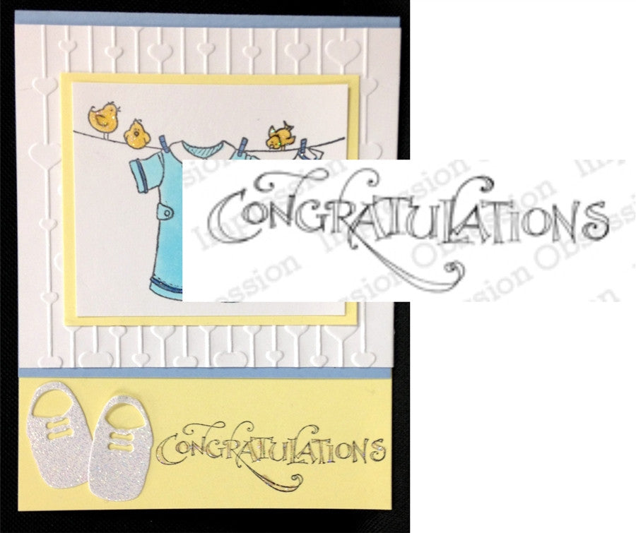 CONGRATULATIONS Stamp by Impression Obsession - Inspiration Station Scrapbook Store & Retreat