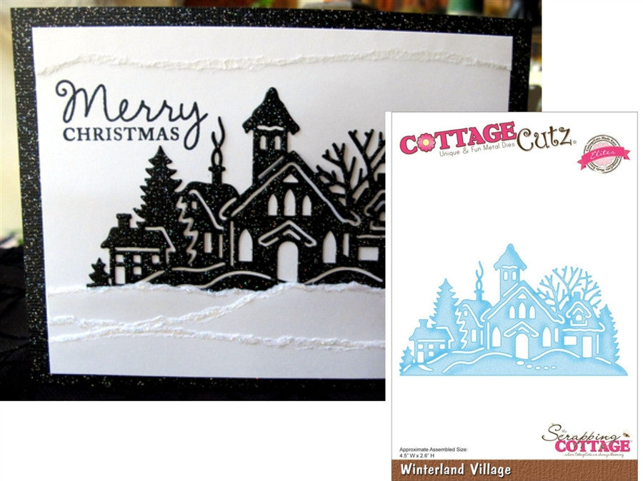 Winterland Village Elites Die Cut By Cottage Cutz CCE054 - Inspiration Station Scrapbook Store & Retreat