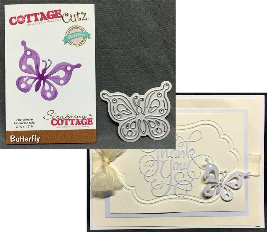 BUTTERFLY (Petites) Die By COTTAGE CUTZ - Inspiration Station Scrapbook Store & Retreat