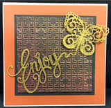 Enjoy Thin Metal Die by Sue Wilson for Creative Expressions DiesCED5404 - Inspiration Station Scrapbook Store & Retreat