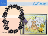 FLOWER BORDER OVAL FRAME die by MARIANNE CR1215 - Inspiration Station Scrapbook Store & Retreat
