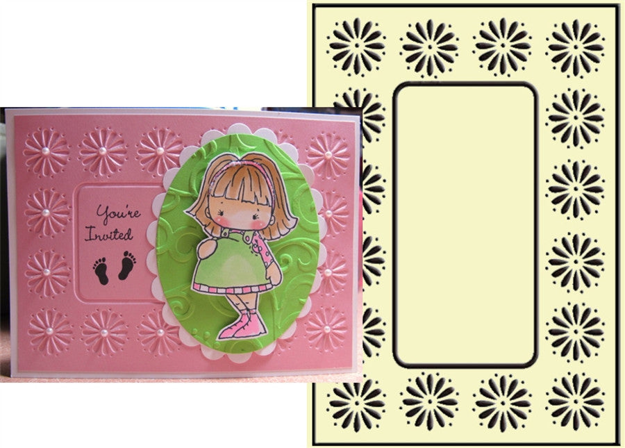 DAISY FRAME embossing folder by CRAFTS TOO CTFD3049 - Inspiration Station Scrapbook Store & Retreat