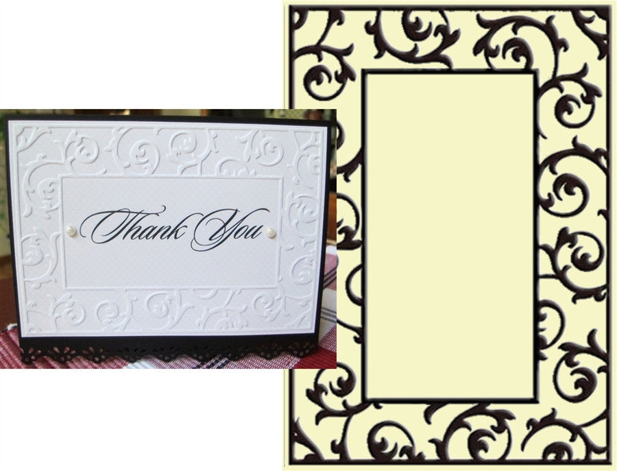 SCROLLWORK FRAME embossing folder by CRAFTS TOO CTFD3050 - Inspiration Station Scrapbook Store & Retreat