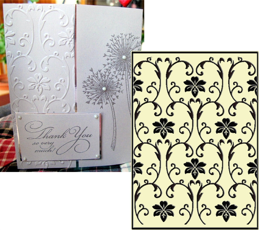 VINTAGE FLOWERS embossing folder by CRAFTS TOO CTFD3063 - Inspiration Station Scrapbook Store & Retreat