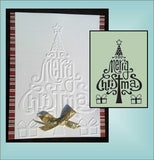 MERRY CHRISTMAS embossing folder by CRAFTS TOO CTFD3071 - Inspiration Station Scrapbook Store & Retreat