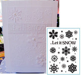 LET IT SNOW Embossing Folder by CRAFTS TOO CTFD3072 - Inspiration Station Scrapbook Store & Retreat