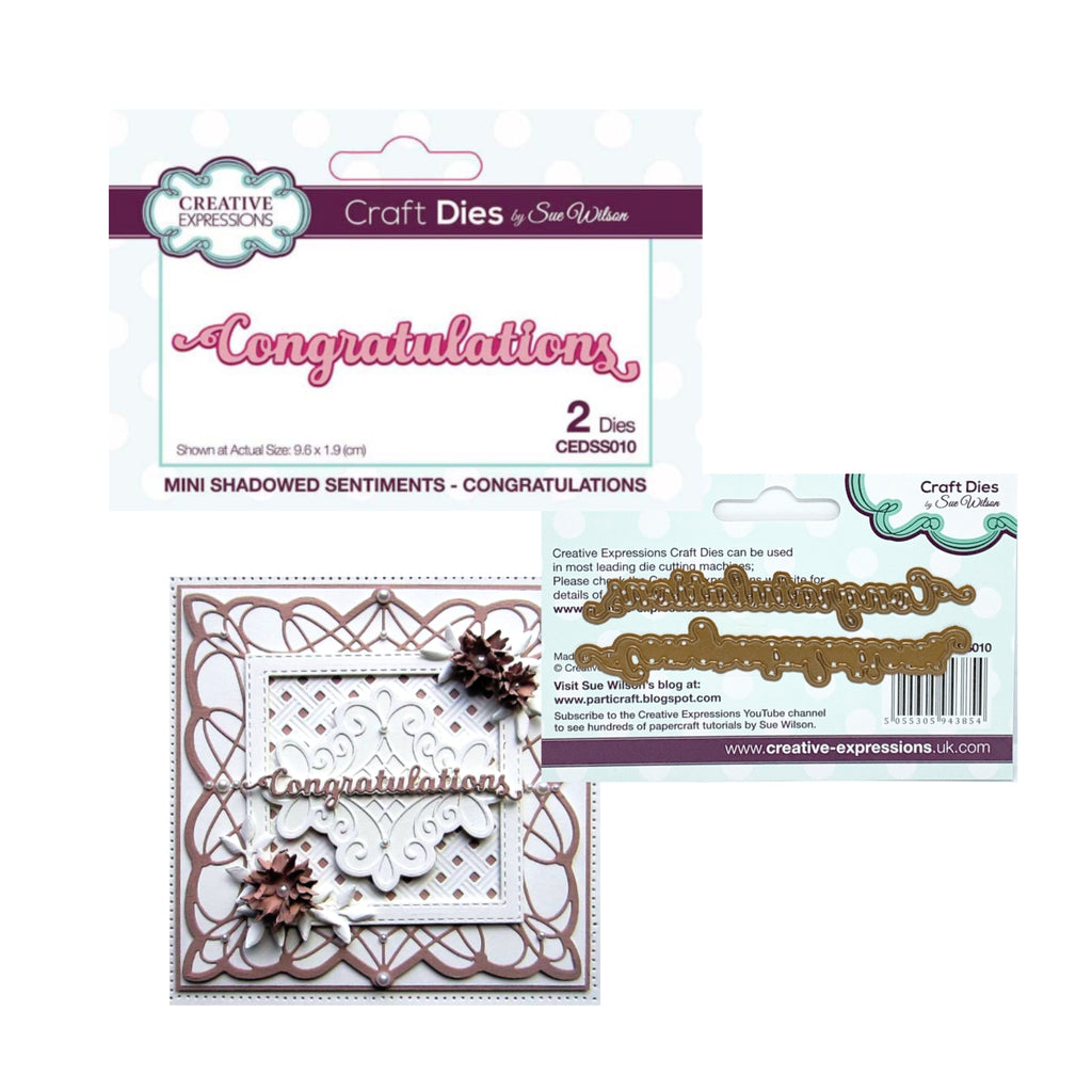 Congratulations Metal Phrase Die Set by Sue Wilson for Creative Expressions Craft Dies CEDSS010 - Inspiration Station Scrapbook Store & Retreat