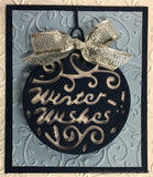 GREETING BAUBLES by TATTERED LACE Metal Die Cut D114 - Inspiration Station Scrapbook Store & Retreat