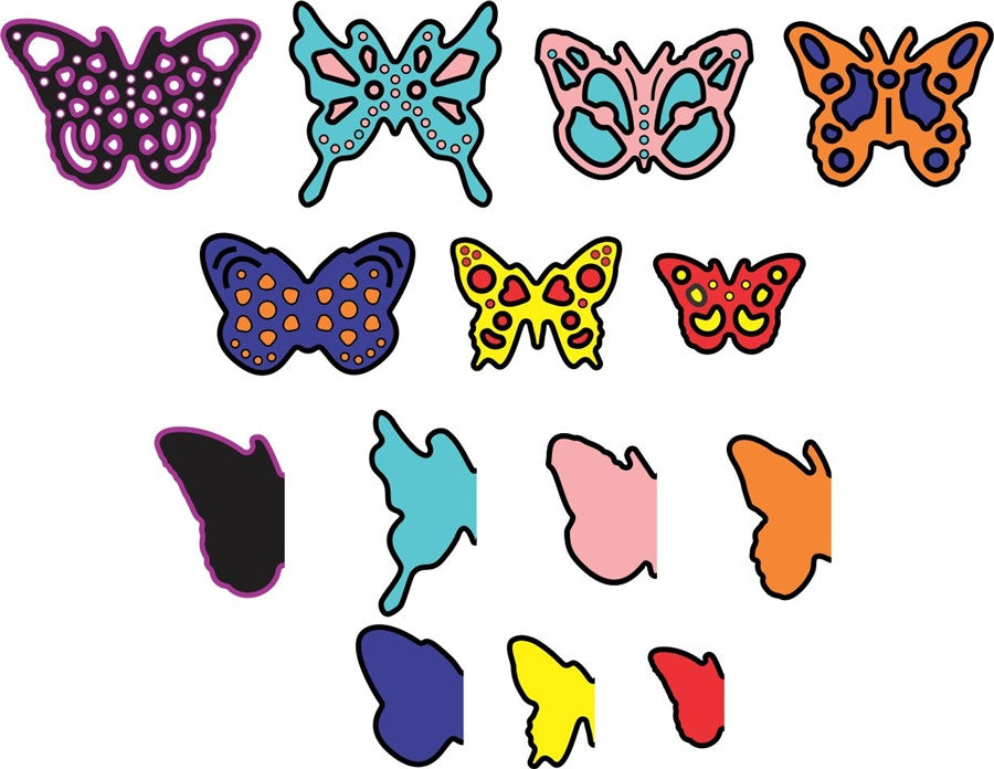 Mini Dimensional Butterflies with Angel Wings Die Cut Set by Cheery Lynn - Inspiration Station Scrapbook Store & Retreat