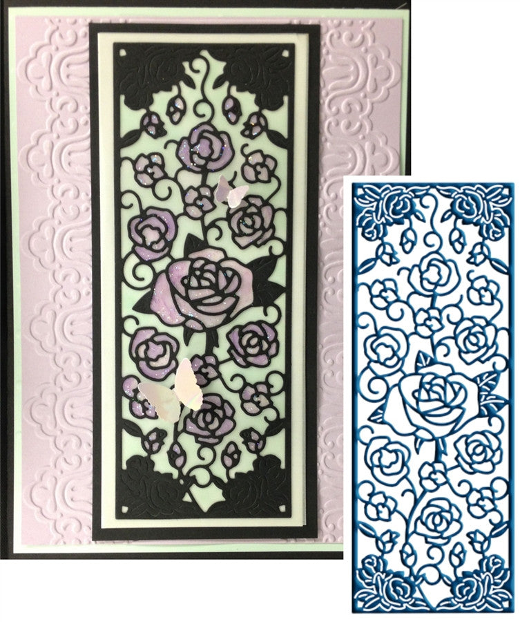 ROSE PANEL by TATTERED LACE Die - Inspiration Station Scrapbook Store & Retreat