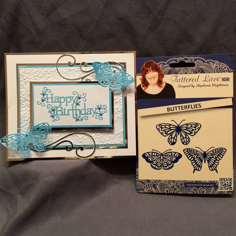 BUTTERFLIES by TATTERED LACE Die Set D466 - Inspiration Station Scrapbook Store & Retreat