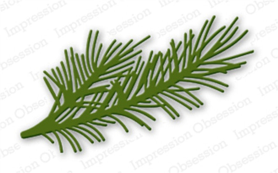 Pine Branch Metal Die Cut by Impression Obsession - Inspiration Station Scrapbook Store & Retreat