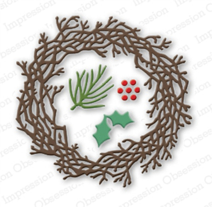 Twig Wreath Set Metal Die Cuts by Impression Obsession - Inspiration Station Scrapbook Store & Retreat