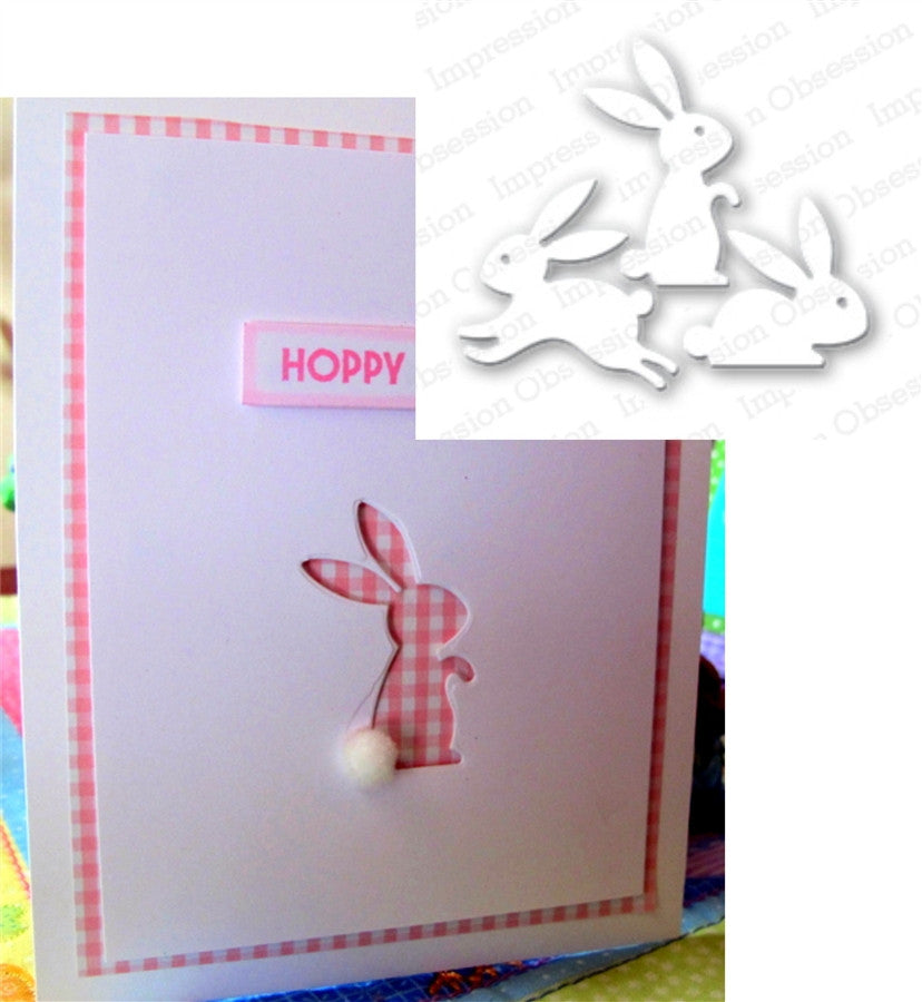 BUNNY SET Metal Die Cuts by Impression Obsession - Inspiration Station Scrapbook Store & Retreat