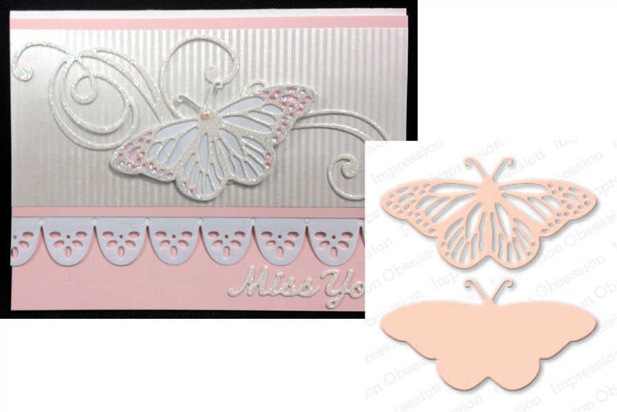 Fancy Butterfly Metal Die Cuts by Impression Obsession - Inspiration Station Scrapbook Store & Retreat