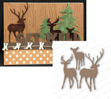 DEER TRIO Metal Die Cut by Impression Obsession - Inspiration Station Scrapbook Store & Retreat