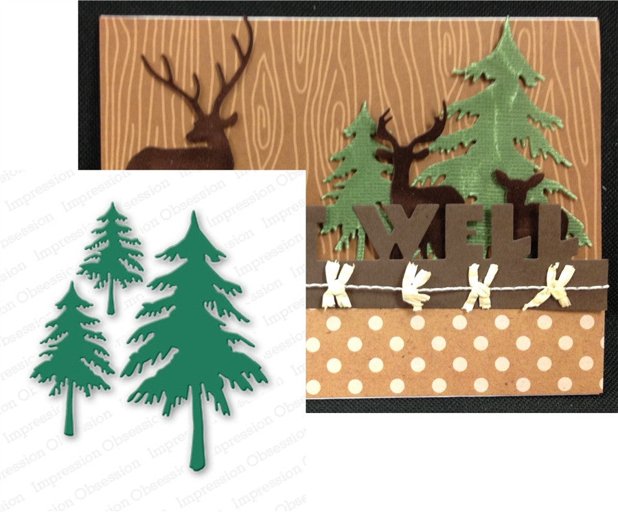 Fir Trees Metal Die Cut by Impression Obsession - Inspiration Station Scrapbook Store & Retreat