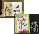 CATTAILS AND DRAGONFLIES Die Cut Set by IMPRESSION OBSESSION DIE087-P - Inspiration Station Scrapbook Store & Retreat