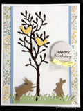 SMALL GRASS BORDER by IMPRESSION OBSESSION DIE096-D Metal Die Cut - Inspiration Station Scrapbook Store & Retreat