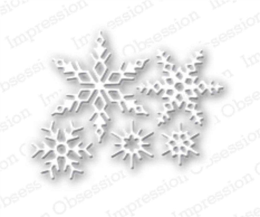 Small Snowflakes Set Metal Die Cuts by Impression Obsession - Inspiration Station Scrapbook Store & Retreat