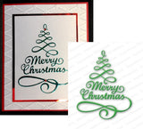 Merry Tree Metal Die Cut by Impression Obsession DIE106-S - Inspiration Station Scrapbook Store & Retreat