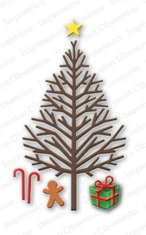 Bare Christmas Tree Metal Die Cut by Impression Obsession - Inspiration Station Scrapbook Store & Retreat