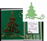CUT OUT CHRISTMAS TREE Metal Die Cut by Impression Obsession DIE111-U - Inspiration Station Scrapbook Store & Retreat