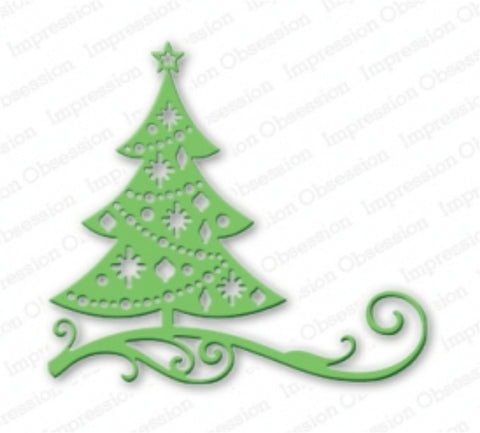 CUT OUT CHRISTMAS TREE Metal Die Cut By Impression Obsession DIE111 U