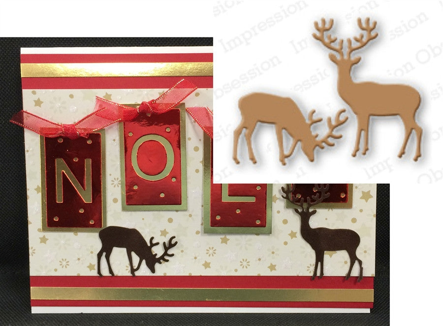 SMALL DEER by IMPRESSION OBSESSION Metal Die Cuts DIE117-C - Inspiration Station Scrapbook Store & Retreat