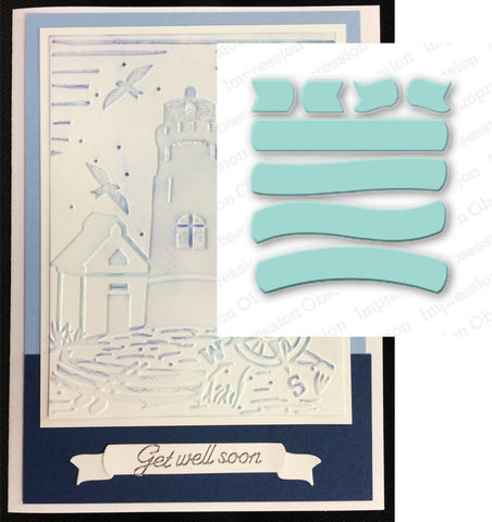 BANNERS AND TAILS metal die cut set by Impression Obsession DIE123-P - Inspiration Station Scrapbook Store & Retreat