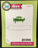 AIRPLANE AND BANNER Die Set by IMPRESSION OBSESSION DIE186-G - Inspiration Station Scrapbook Store & Retreat