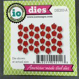 TINY APPLES Die Cut by IMPRESSION OBSESSION DIE203-A - Inspiration Station Scrapbook Store & Retreat