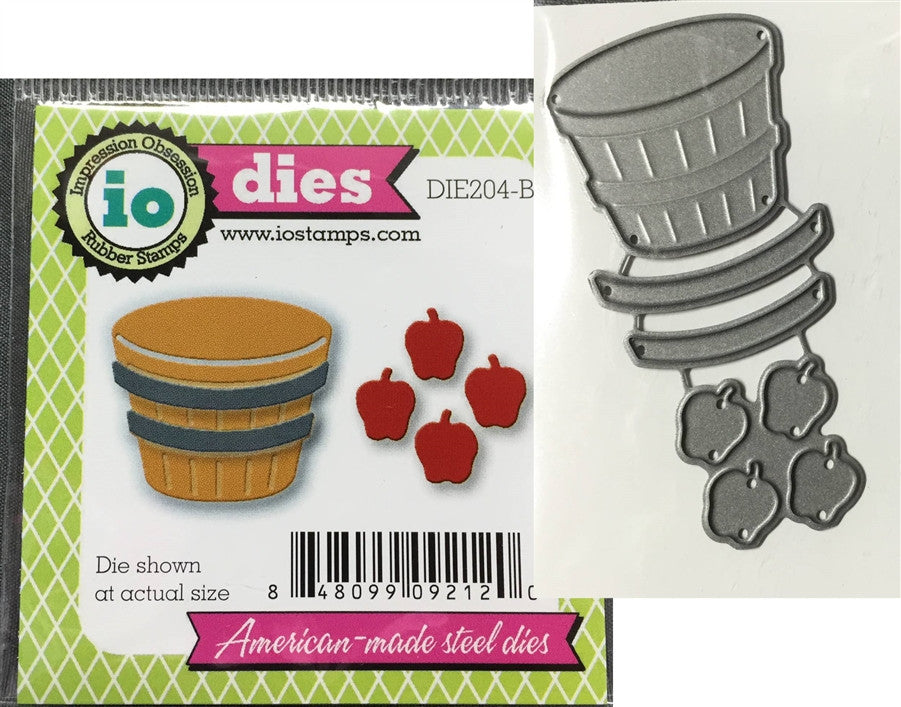 Bushel of Apples Die Cut Set by Impression Obsession Dies DIE204-B - Inspiration Station Scrapbook Store & Retreat