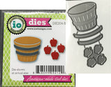 BUSHEL OF APPLES Die Cut Set by IMPRESSION OBSESSION DIE204-B - Inspiration Station Scrapbook Store & Retreat