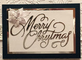 MERRY CHRISTMAS by IMPRESSION OBSESSION DIE DIE236-N - Inspiration Station Scrapbook Store & Retreat