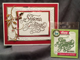 Season's Greetings Words Die Cut by Impression Obsession Dies DIE237-S - Inspiration Station Scrapbook Store & Retreat