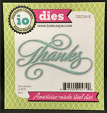 THANKS SCRIPT Die by IMPRESSION OBSESSION DIE258-K - Inspiration Station Scrapbook Store & Retreat