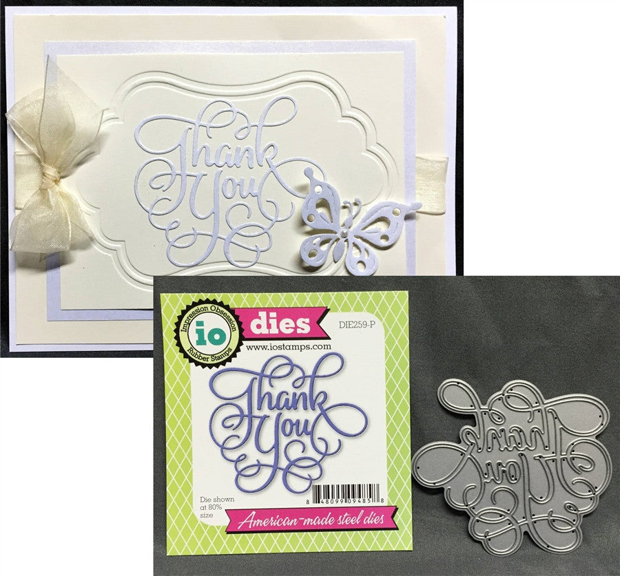 THANK YOU Die by IMPRESSION OBSESSION DIE259-P - Inspiration Station Scrapbook Store & Retreat